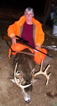 Juliana Broek didn�t let her heart attack in October stop her from her passion for deer hunting. She is shown here with her 14 point buck she harvested on November 17, opening day for deer hunting.